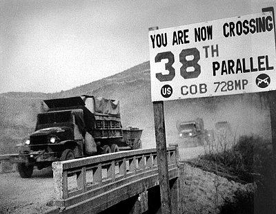 朝鮮戦争,38度線